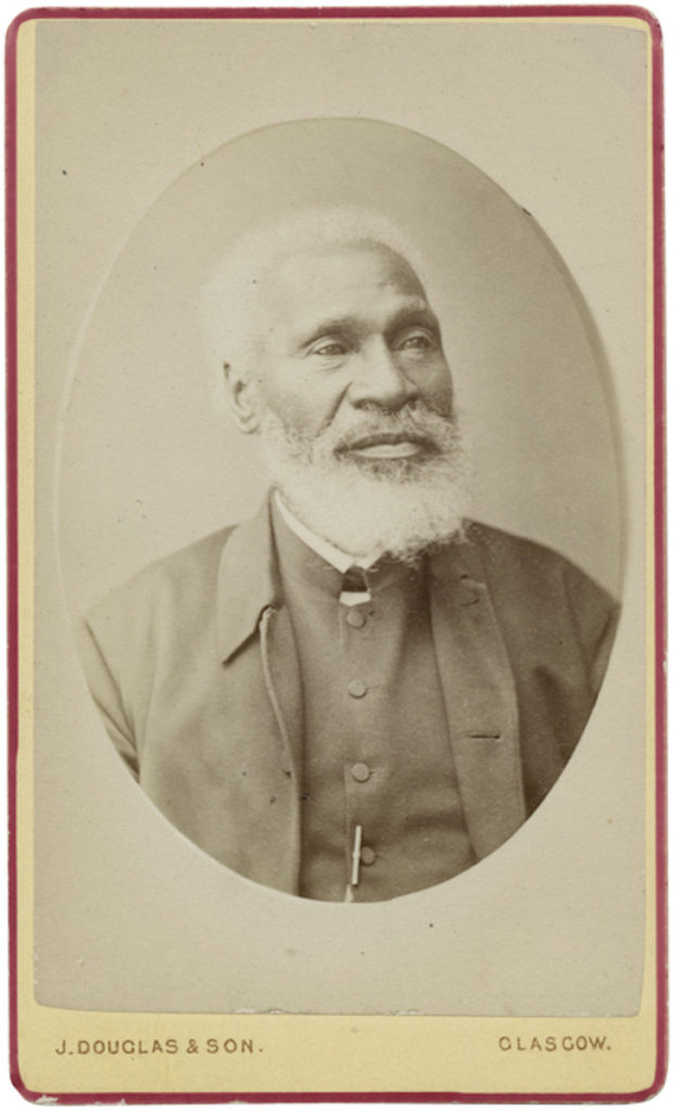<strong> Josiah Henson. Glasgow, 1877. Photograph by Douglas & Son</strong><br></br>Courtesy of Autograph ABP. Supported by the National Lottery through the Heritage Lottery Fund.<br></br>Josiah Henson (1789-1883) was an abolitionist, author and minister. Born into slavery in Maryland, he escaped to Ontario, Canada in 1830, where he founded a settlement and labourer's school for other fugitive slaves at Dawn, near Dresden, in Upper Canada. His autobiography, The Life of Josiah Henson, Formerly a Slave, Now an Inhabitant of Canada, as Narrated by Himself (1849), was widely believed to have inspired the title character of Harriet Beecher Stowe's novel, Uncle Tom's Cabin (1852).            In August 1876 he and his wife arrived in England and Henson began an extensive tour, appearing at Non-Conformist chapels and churches all over London and the southern counties.  He was received by Queen Victoria, on 5 March 1877.<br></br>Albumen carte-de-visite,  64x100mm.