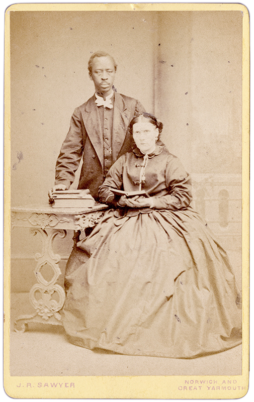 <strong> Unidentified sitters. Great Yarmouth, Norfolk, circa 1870s. <br></br>Courtesy of Autograph ABP. Supported by the National Lottery through the Heritage Lottery Fund.<br></br><br></br>Albumen carte-de-visite,  64x100mm.