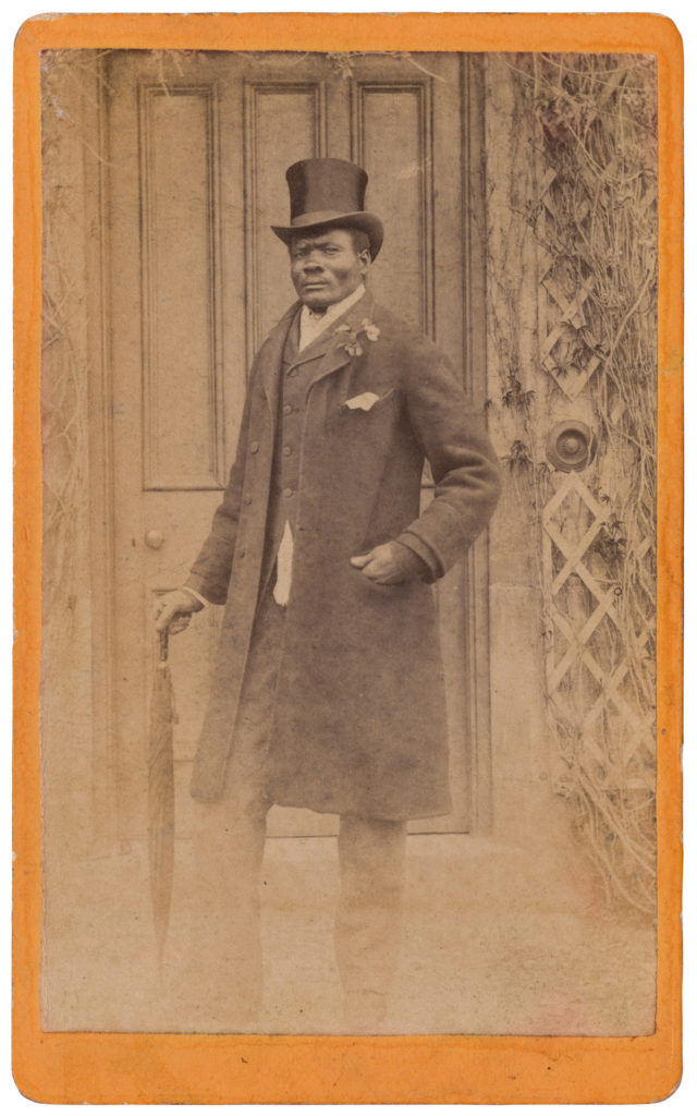 <strong> Unidentified Sitter. Kent, 1880s. By ANON.  Courtesy of Autograph ABP. </strong><br></br>Courtesy of Autograph ABP. Supported by the National Lottery through the Heritage Lottery Fund.<br></br>Details regarding the sitter's identity remain unknown at this stage. <br></br>Albumen carte-de-visite,  64x100mm.