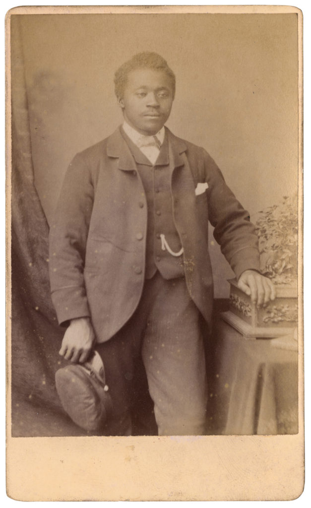 <strong>Unidentified Sitter. Hull, date unknown. Photograph by A T Osbourme. . </strong><br></br>Courtesy of Autograph ABP. Supported by the National Lottery through the Heritage Lottery Fund.<br></br>Details regarding the sitter's identity remain unknown at this stage. <br></br>Albumen carte-de-visite,  64x100mm.