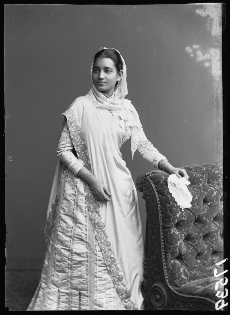 <strong>Suniti Devi, Maharani Of Cooch Behar. <br>London, 1887. <br>By London Stereoscopic Company.</strong>   <br></br>  © Hulton Archive/Getty Images. Courtesy of Hulton Archive, and Autograph ABP, London. Supported by the National Lottery through the Heritage Lottery Fund. <br></br> Suniti Devi (1864 - 1932), was the Maharani of the Princely state of Cooch Behar in West Bengal, India. She was the daughter of the renowned religious reformer and social philosopher Keshub Chunder Sen. Together with her husband Nripendra Narayan, Maharaja of Koch Bihar (1862-1911) she attended the Golden Jubilee celebrations of Queen Victoria in 1887, and became the first Indian women to be awarded CIE (Companion of the Order of the Indian Empire). An an educationist and women's rights activist, Devi financed the foundation of Maharani Girls' High School at Darjeeling in 1908. She was the President of State Council, and also the first President of the All Bengal Women's Union in 1932. <br></br>  Fibre-based silver gelatin print, 20x24""
