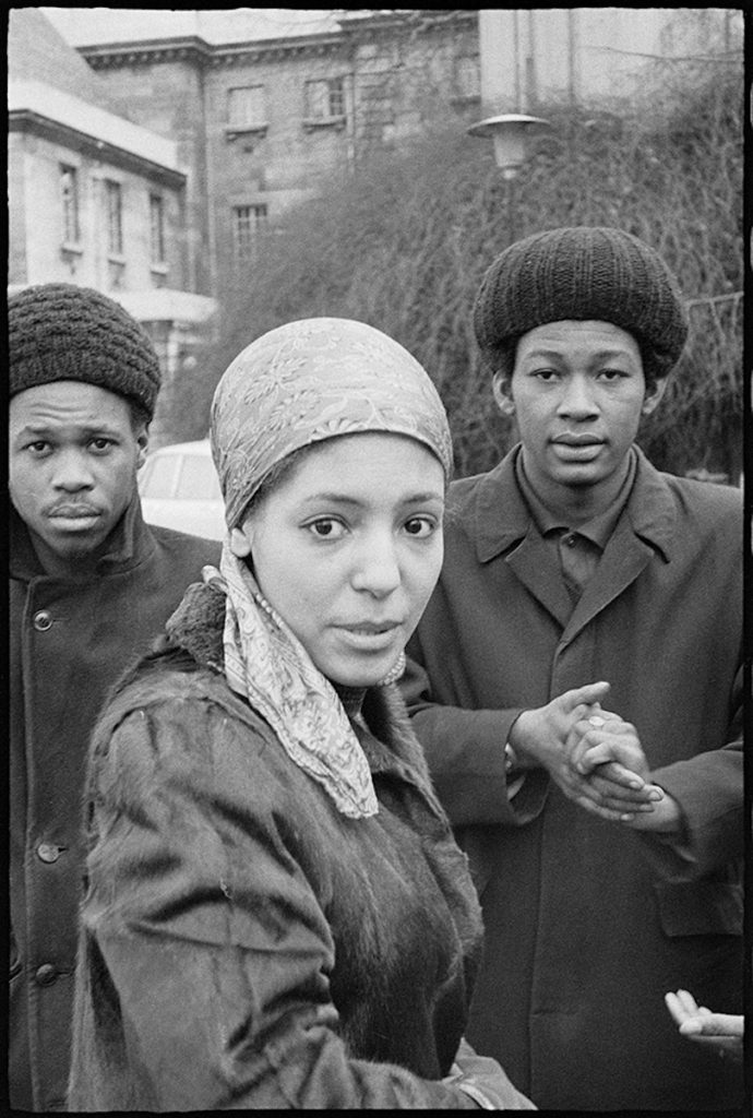 "Leila Hussein at a demonstration, London, c.1970. Fibre-based silver gelatin print, 12 x 16"" © Neil Kenlock / Courtesy of Autograph ABP, London. Supported by the National Lottery through the Heritage Lottery Fund."