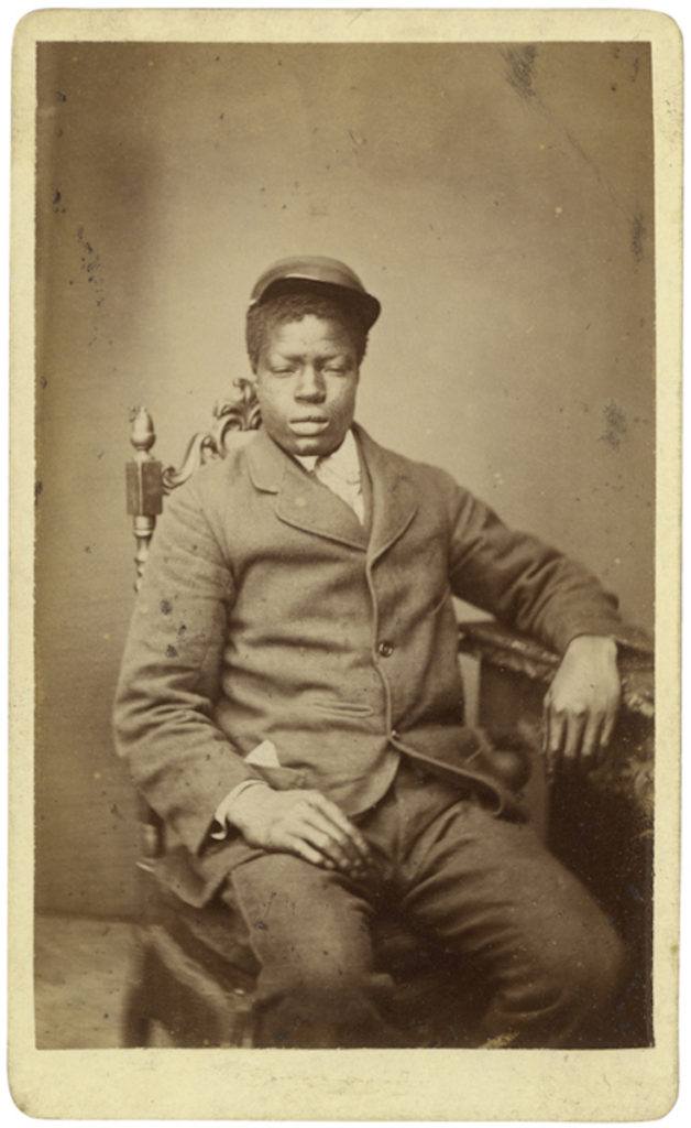 <strong> Unidentified Sitter. London, 1880s. Photograph by R. & E. Sands. </strong><br></br>Courtesy of Autograph ABP. Supported by the National Lottery through the Heritage Lottery Fund.<br></br>No further details are known about the sitter's identity. <br></br>Albumen carte-de-visite,  64x100mm.
