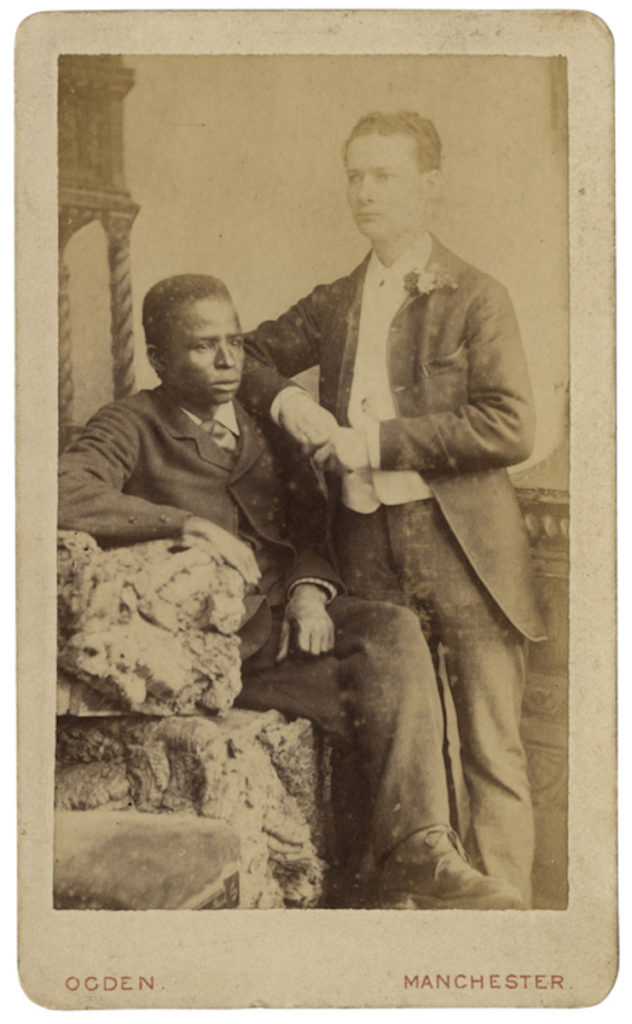 <strong> Unidentified Sitters. Manchester, date unknown. Photograph by S.Ogden. </strong><br></br>Courtesy of Autograph ABP. Supported by the National Lottery through the Heritage Lottery Fund.<br></br>No further details are known about the sitter's identity. <br></br>Albumen carte-de-visite,  64x100mm.