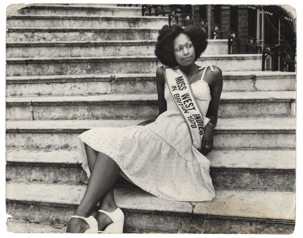 "Myrna Thomas, Miss West Indies in Britain, London 1978. Vintage silver gelatin print, 10 x 12"" © Raphael Albert / Courtesy of Autograph ABP, London. Supported by the National Lottery through the Heritage Lottery Fund."