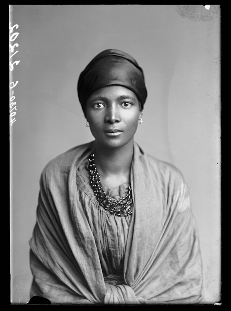 <strong>Eleanor Xiniwe, The African Choir. London, 1891. <br> By London Stereoscopic Company.  </strong>  <br></br> © Hulton Archive/Getty Images. Courtesy of Hulton Archive, and Autograph ABP, London. Supported by the National Lottery through the Heritage Lottery Fund. <br></br>  Eleanor Xiniwe (née Ndwanya) was a member of The African Choir. Upon her return to South Africa, she and her husband Paul Xiniwe opened the Temperance Hotel - the first hotel for black Africans - in 1894 in the Cape Province. The couple had five children and were one of the most established families in the Cape, actively engaged in national politics, and social change. The African Choir, who toured Britain between 1891 and 1893 to raise funds to build a technical college on the Cape Coast, performing to great acclaim and large audiences at Crystal Palace, for members of the British aristocracy and leading political figures, and most notably for Queen Victoria at Osborne House, Isle of Wight.   <br></br> Fibre-based silver gelatin print, 20x24""