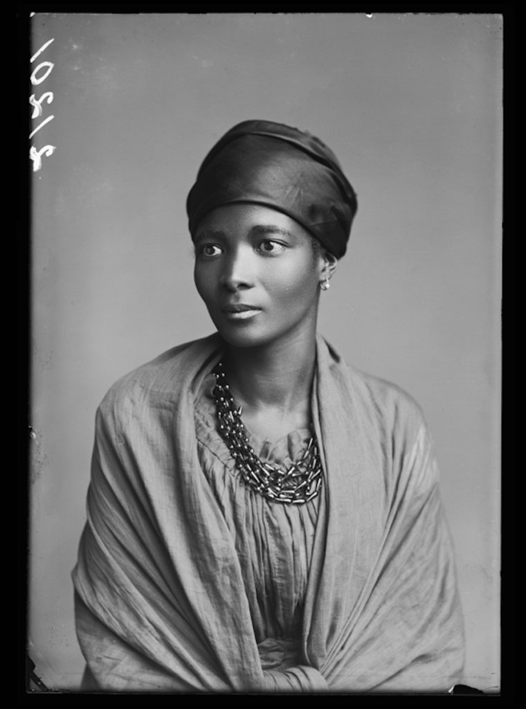 <strong>Eleanor Xiniwe, The African Choir. London, 1891.  <br> By London Stereoscopic Company.</strong>  <br></br> © Hulton Archive/Getty Images. Courtesy of Hulton Archive, and Autograph ABP, London. Supported by the National Lottery through the Heritage Lottery Fund. <br></br>  Eleanor Xiniwe (née Ndwanya) was a member of The African Choir. Upon her return to South Africa, she and her husband Paul Xiniwe opened the Temperance Hotel - the first hotel for black Africans - in 1894 in the Cape Province. The couple had five children and were one of the most established families in the Cape, actively engaged in national politics, and social change. The African Choir, who toured Britain between 1891 and 1893 to raise funds to build a technical college on the Cape Coast, performing to great acclaim and large audiences at Crystal Palace, for members of the British aristocracy and leading political figures, and most notably for Queen Victoria at Osborne House, Isle of Wight.   <br></br>  Fibre-based silver gelatin print, 20x24""