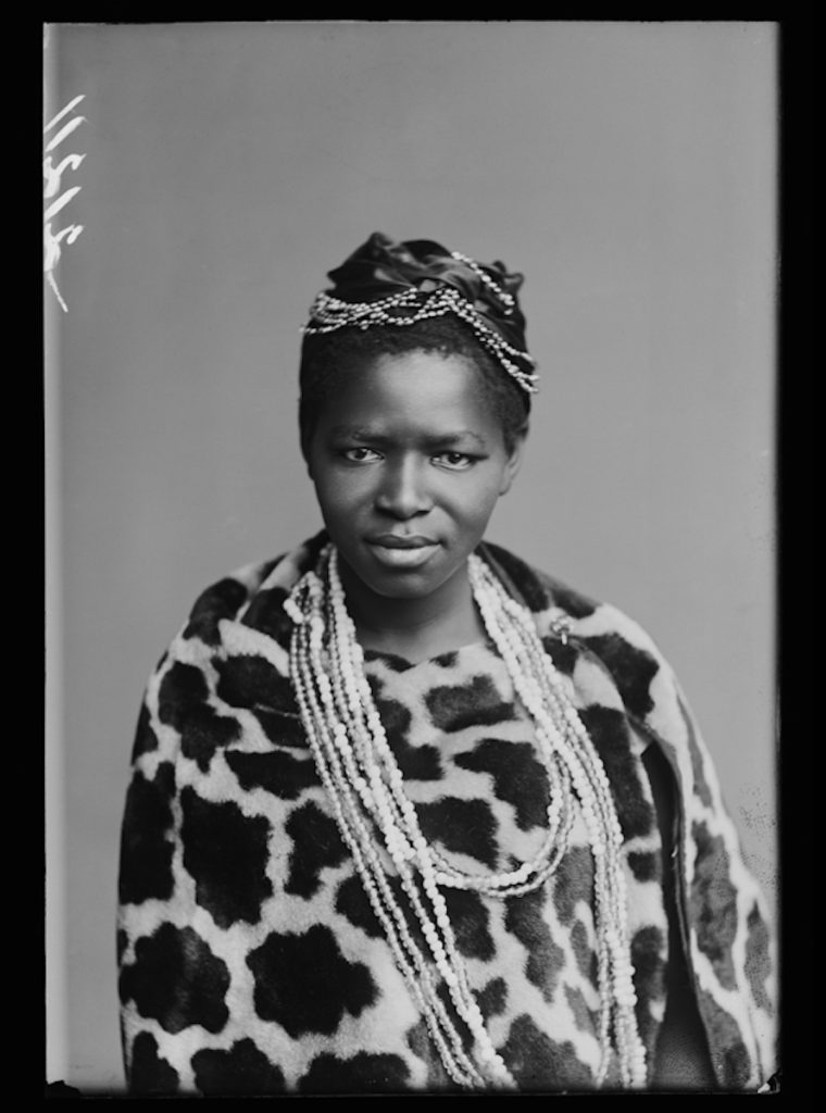 <strong>Charlotte Manye, The African Choir. London, 1891 <br>By the London Stereoscopic Company.   </strong>   <br></br>  © Hulton Archive/Getty Images. Courtesy of Hulton Archive, and Autograph ABP, London. Supported by the National Lottery through the Heritage Lottery Fund. <br></br>  Charlotte Makhomo Manye (1874 - 1939), later Maxeke, travelled to England as a member of the African Choir when she was seventeen years old, where she met the suffragette Emmeline Pankhurst. While on tour in America, she was offered a scholarship to study at Wilberforce University in Cleveland, Ohio. She became the first black South African woman to earn a Doctorate in Arts and Humanities. Upon her return home to South Africa, Charlotte Maxeke became an important political activist and advocate for Women's Rights, and founded several organisations including the the Bantu Women's League and AME Church's Widow's Mite Society. She was an active member of the African National Congress, and a passionate advocate for African liberty.                     <br></br>  Fibre-based silver gelatin print, 20x24""