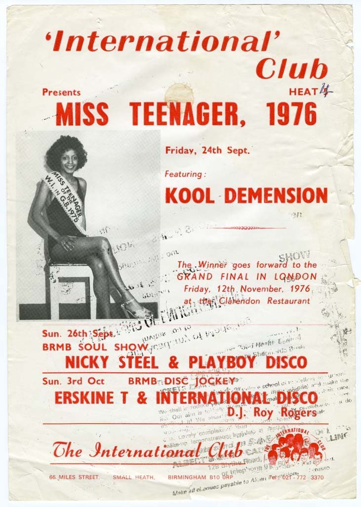 Poster, Miss Teenager, 1976. Original vintage material © Raphael Albert / Courtesy of Autograph ABP, London. Supported by the National Lottery through the Heritage Lottery Fund.